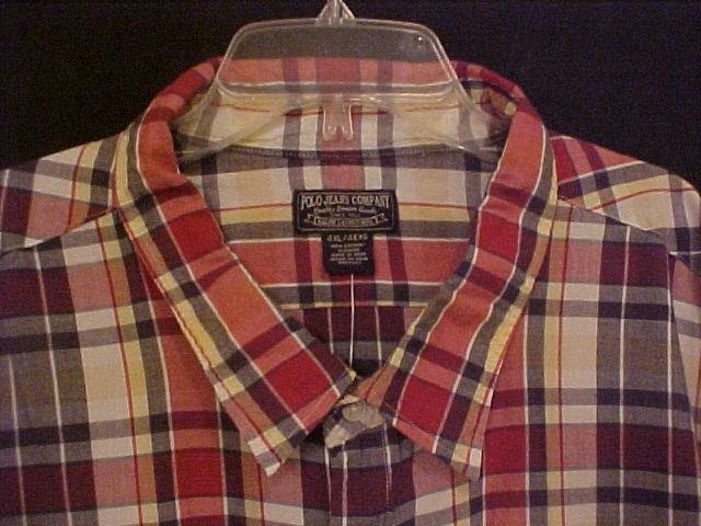 Polo Jeans Ralph Lauren Button Down Shirt S/S Size 4X 4XL 4XB Big Mens Clothing  915471