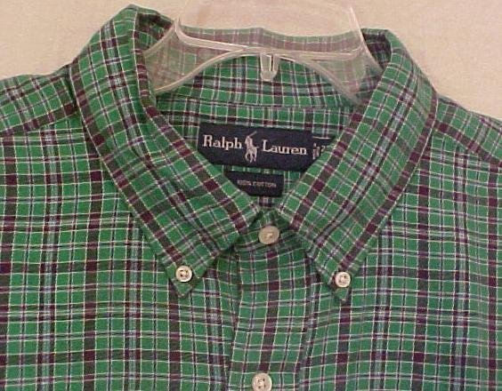 Ralph Lauren Button Down Shirt Size 4X 4XL Big & Tall Mens Clothing 905281