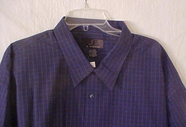 Big & Tall J Ferrar Short Sleeve Button Front Shirt Size 4X 4XB 4XL 917161