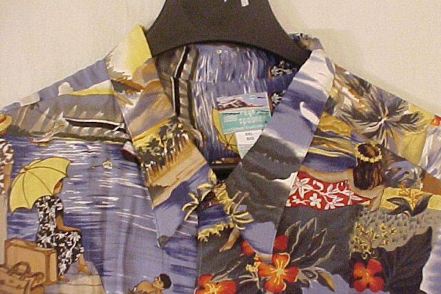 NEW Reyn Spooner Hawaiian Shirt Scenic Trans Pacific Print 3XL 3XB 3X  Big Tall Mens Clothing 919321