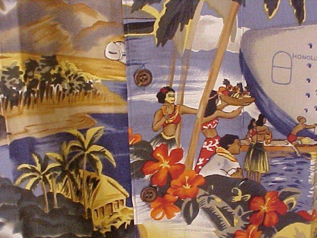 NEW Reyn Spooner Hawaiian Shirt Scenic Trans Pacific Print 6XL 6XB 6X  Big Tall Mens Clothing 919351