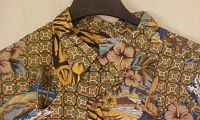 NEW Reyn Spooner Hawaiin Shirt Beach Matt Print 5XL 5XB 5X  Big Tall Mens Clothing 919521