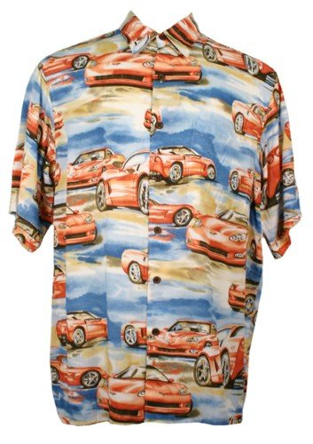 NEW Reyn Spooner Hawaiian Aloha Shirt Corvette Evolution Print 4X 4XL 4XB - 919441