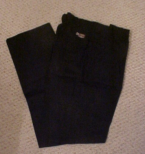 Elastic Waist Black Pant  Size 50 TALL Unhemmed  Big & Tall Mens Clothing 918731