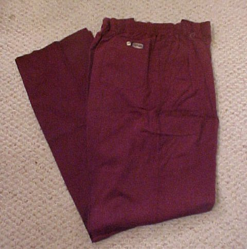 Elastic Waist Wine Pant  Size 42 TALL Unhemmed  Big & Tall Mens Clothing 918851