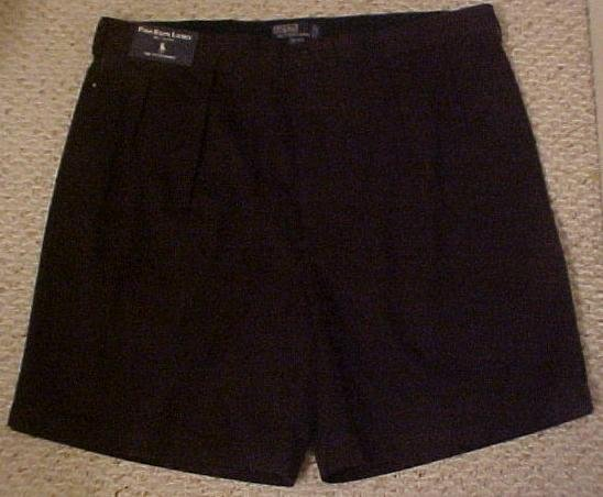 New Ralph Lauren Polo Tyler Golf Shorts BLACK Sz 52   Big Tall Mens Clothing  912491