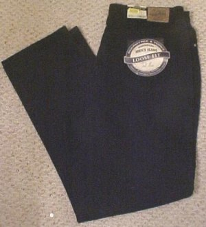 New Big & Tall Roundtree & Yorke BLACK 5 Pocket Jean 36 X 36 920250