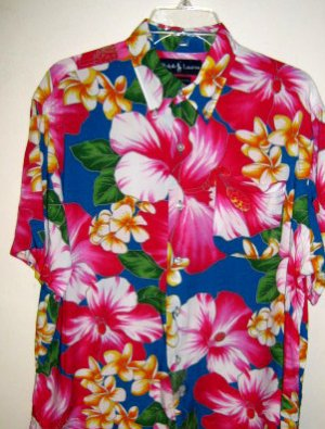 New RALPH LAUREN TROPICAL HAWAIIAN SHIRT  XLT XL Tall Mens Clothing 920330
