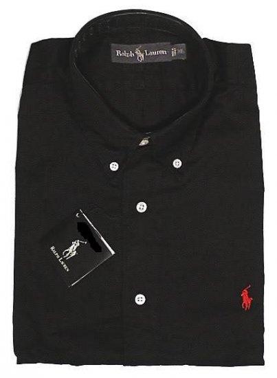 Black Ralph Lauren Button Down Shirt Long Sleeve Size Xlt