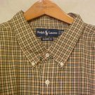 Green Plaid Ralph Lauren Button Down Shirt Long Sleeve 3X 3XL 3XB Big Tall Mens Clothing 921081 2