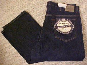 Darkwash Blue 5 Pocket Jean 36 X 38 Big & Tall Roundtree & Yorke 921391 2
