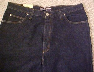 Darkwash Blue 5 Pocket Jean 54 X 32 Big & Tall Roundtree & Yorke 921451 2