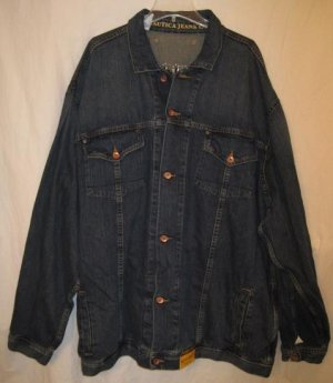 Blue Nautica Jeans Co Denim Jacket 4XT 4XLT 4LT Big Tall Men's Clothing 921881