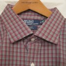 Purple Plaid Ralph Lauren Button Down Shirt Long Sleeve 3X 3XL 3XB Big Tall Mens Clothing 922151