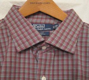 Purple Plaid Ralph Lauren Button Down Shirt Long Sleeve 3X 3XL 3XB Big Tall Mens Clothing 922151