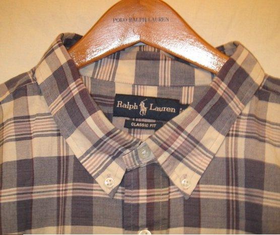 Big Mens Ralph Lauren Short Sleeve Button Front Shirt 3XL 3X 3XB  922301 3
