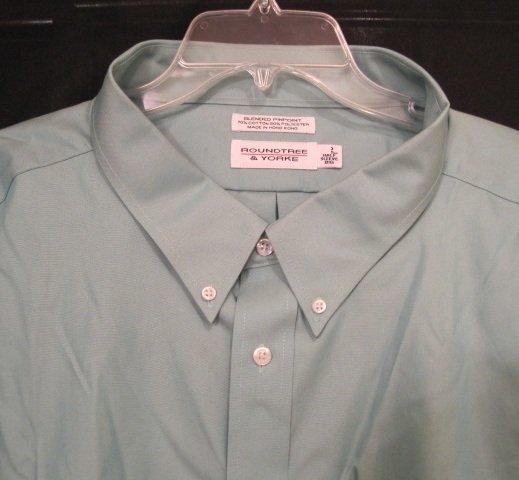New Dress Shirt Green Short Sleeve Size 18.5 Tall Men's Clothing 922581 2