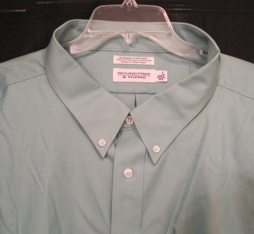New Dress Shirt Green Short Sleeve Size 19 TALL Men's Clothing 922601 7