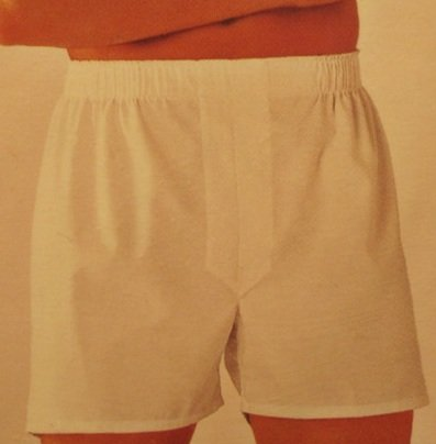 New 2 pack White Cotton Full Cut Boxers Size 52 Big Tall Men's Clothing 922811 2