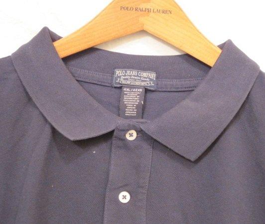 Navy Blue Polo Jeans Ralph Lauren Short Sleeve Polo Shirt 4XL 4X 4XB Big Tall Mens Clothing 923021
