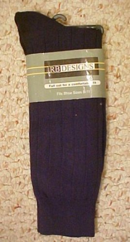 Navy Dress Sock Size 8 - 11 Stretch Full Cut  RB700