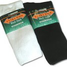 WHITE Extra Wide Medi Socks Size 11 - 16 Medical Purposes 100% Cotton 6900-1116-WT