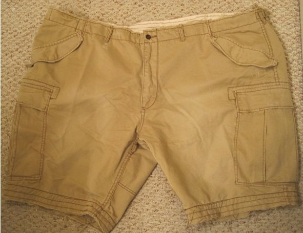 Distressed Polo - Ralph Lauren Tan Freighter Shorts Size 56 Big Tall Mens Clothing 924161