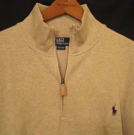 Tan Half Zip Polo Ralph Lauren Pull Over Sweater 3XB 3X 3XL Big Tall Mens Clothing 924901