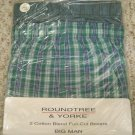 New Green 2 pack Full Cut Boxers Size 52 Big Tall Men's Clothing 924561