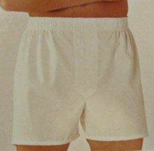 New White Cotton Full Cut Boxers Size 56 Big Tall Men's Clothing 924431 2