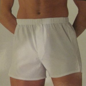 New 2 pack White Cotton Tapered Boxers Size 54 Big Tall Men's Clothing 924461