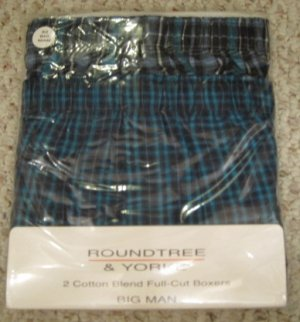 New 2 pack Full Cut Boxers Size 52 Big Tall Men&#039;s Clothing 924511 2