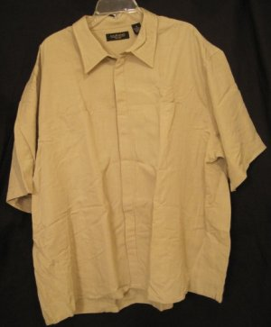 New Short Sleeve Button Front Shirt 3XL 3X 3XB Big Tall Mens Clothing 924781
