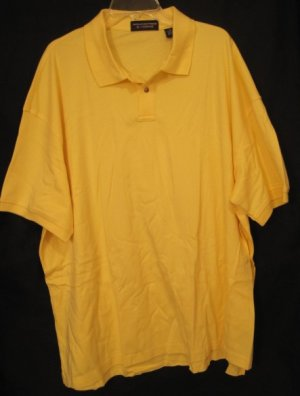 Pale yellow polo golf shirt s s size 3x 3xl big tall mens for Yellow golf polo shirts