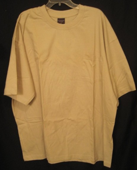 beige pull pocket t shirt s s size 3x 3xl big