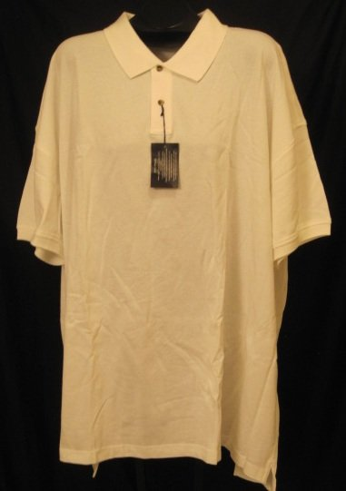 New white casual polo shirt s s size 5x 5xl big tall mens for Size 5x mens dress shirts