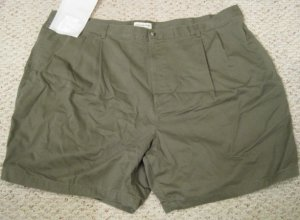 New Green Pleated Front SHORTS Size 50 Big Mens Clothing 926511