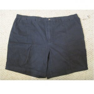 New St. John's Bay Navy Blue Walking Shorts Size 52 Big Tall Mens Clothing 927541