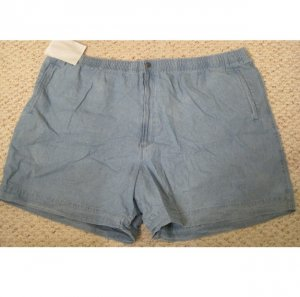 New Chambray Shorts Size 4X 4XB 48 Draw String Waist Big Tall Mens Clothing 927501 2