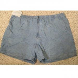New Chambray Shorts Size 4X 4XB 48 Draw String Waist Big Tall Mens Clothing 927501 2