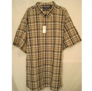New button down short sleeve black plaid shirt 5x 5xl 5xb for Mens tall button down shirts