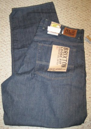 Ralph Lauren Polo Jean Company BRIXTON 5 Pocket Jean 40 X 36 Big and Tall Mens Clothing 925111