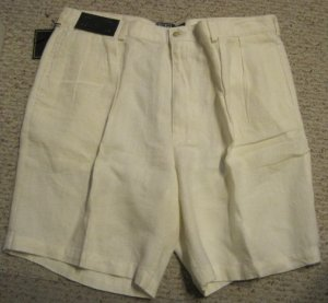 New Linen Ralph Lauren Polo Tyler Golf Shorts Size 40 Big Tall Mens Clothing 925121