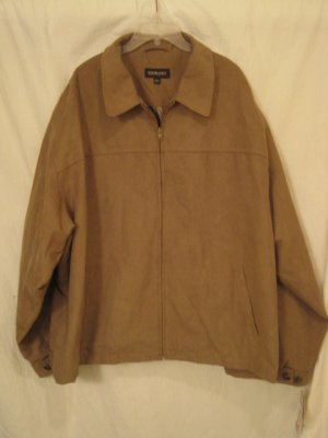 Microsuede Tan Jacket Murano 3XB 3X Big Tall Men's Clothing 938171