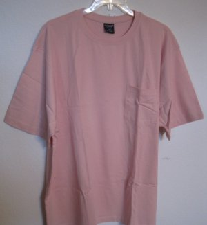 NEW Powder Pink Pocket T-Shirt Short Sleeve Size 4XL 4X Big Tall Men's Clothing  925331 4