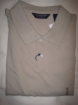 Tan Polo Golf Shirt S/S Pocket Size 5X Big Mens Clothing 925421