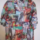 New Daniel Cremieux HAWAII Short Sleeve Button Front Shirt Size 3XT 3XLT Big Tall Men's 925461