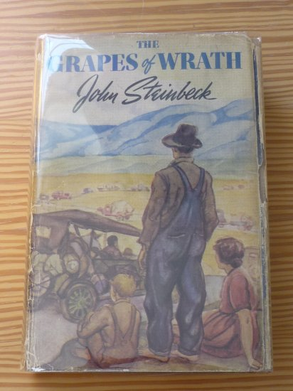 John Steinbeck The Grapes of Wrath First Edition and Printing with DJ