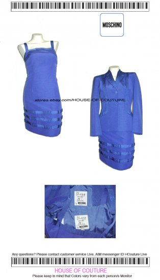 MOSCHINO CHEAP AND CHIC COUTURE DRESS SUIT Sz 4