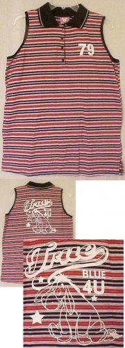 New Disney Eeyore Sleeveless Polo Shirt Size 26 28 W  3x Plus Size Women Clothing  490221-2